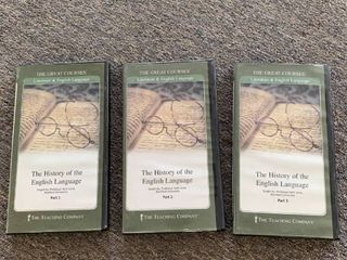 Great Courses  History of the English language  36 lectures on 6 DVDs   RETAIl  374 95