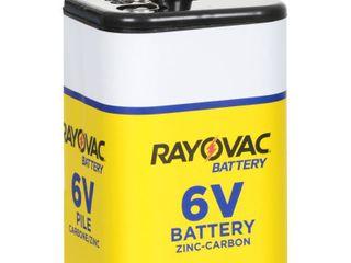 lOT of 4 Rayovac Zinc Carbon 6V Batteries  RETAIl  14 56