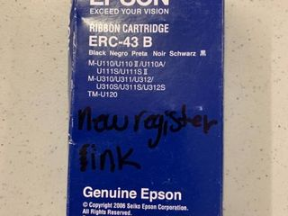 lOT OF 3 Epson ERC 43B INK RIBBON BlACK Point of Sale Register Ink  RETAIl  14 40