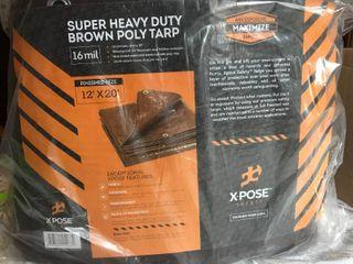 Maximize Super Heavy Duty Brown Poly Tarp