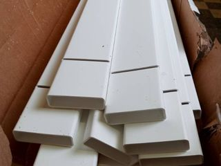 4x8 spaced 3  Picket Panel 13 pickets 2 rails white