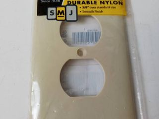 Hubble midsize durable nylon wall plug cover cream 3 8 over standard size smioth finish 8 pack
