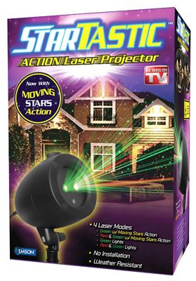 As Seen On TV   Startastic Holiday laser Show Projector  Multi Colored