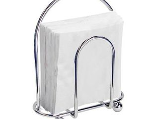 Sweet Home Collection Chrome Napkin Holder  4 x7 x8