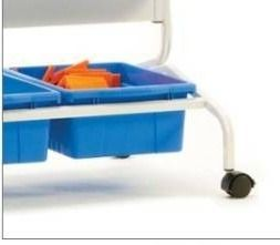 Blue plastic buckets