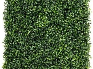 Artificial Boxwood Hedge 20 inch Greenery Panels  Set of 12    12pc Retail 107 49