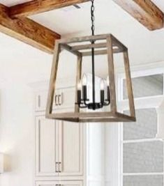 Rustic large Geometric Wooden and Black lantern Retail 191 49