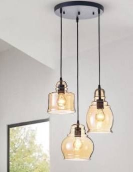 Corona 3 light Cluster Bell Pandant Retail 116 49