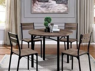 Carbon loft Maggio Industrial Antique Brown  2 chairs only