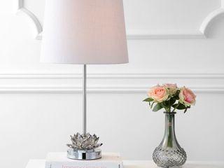 Amelia lotus 25  Crystal lED Table lamp  Smoke Gray Chrome