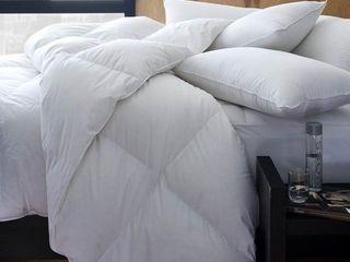 1221 Bedding Cotton Sateen European White Goose Down Comforter Retail 359 49