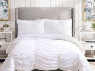 Porch   Den Pastern White Textured Twin Twin Xl Comforter Set