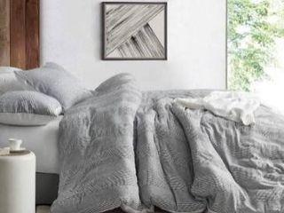 Waffled Gray   Oversized Duvet Cover Retail 129 99