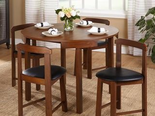 Harrisburg set of 4 Tobey Compact Round Dining chairs  No table