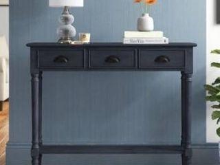 Burlington 3 drawer wood console table