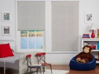 Copper grove 64 in silver gray blinds