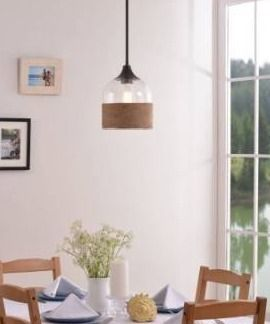 Jasper 1 light Pendant   Oil Rubbed Bronze with Rope and Glass Retail 83 99