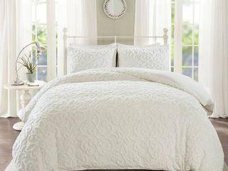 Madison Park Sabrina King California King 3 Piece Tufted Cotton Chenille Duvet Cover Set Bedding