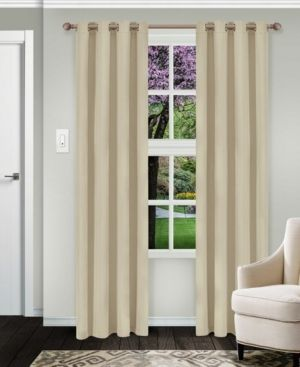 Impressions Reagan Solid Blackout Curtain Set with Grommet Header