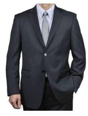Men s Black Wool 2 button Suit Retail 155 99