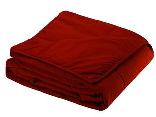 Full Queen Cottonloft Soft and Warm All Natural Breathable Hypoallergenic Cotton Blanket  Red