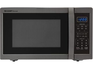1 4 Cu Ft 1100w microwave with 12 4  turntable  Sensor  Blue lED Display