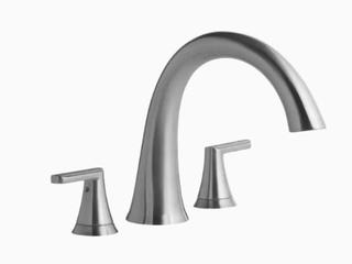 Jacuzzi lauren Brushed Nickel 2 handle Deck Mount Roman Bathtub Faucet