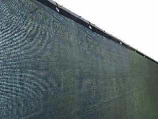 AlEKO Green Fence Privacy Screen Mesh Fabric with Grommets   50 feet long x 6 feet tall