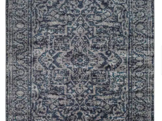 Abbas Navy   Gray Vintage Traditional Area Rug   7 10  x 10 3  Retail 119 99