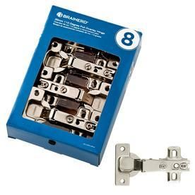 Brainerd 8 Pack 4 1 2 in x 2 1 2 in Nickel Plated Concealed Cabinet Hinges