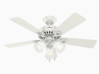 Hunter Ridgefield 44 In  Indoor White Ceiling Fan With led lights 51109