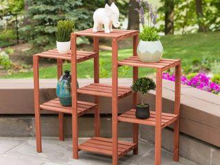 leisure Season 7 Tier Plant Stand  Medium Brown