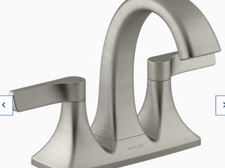 Kohler Maxton Brushed Nickel 2 handle 4 in Centerset Bathroom Faucet