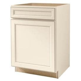 Kitchen Classics Caspian 24 in W x 35 in H x 23 75 in D Finished Toasted Antique Door and Drawer Base Cabinet
