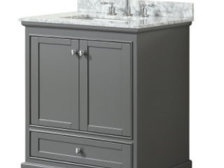 Wyndham Collection Bathroom Cabinet with Sink
