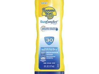 Banana Boat SunComfort Sunscreen lotion   SPF 30   6 fl oz