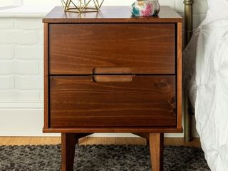 Carson Carrington 20 inch longyearbyen 2 drawer Mid century Modern Nightstand  Retail 109 99