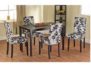 Simple living Parson Black and Silver Rubber Wood Dining Chairs  Set of 2  Retail 131 99
