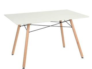 Carson Carrington Satenas White Wooden Dining Table  Retail 174 49