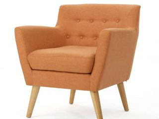 Meena Buttoned Mid Century Modern Fabric Club Chair by Christopher Knight Home  Retail 212 49