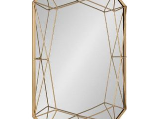 Kate and laurel Keyleigh Metal 22 inch x 28 inch Rectangle Accent Wall Mirror  Retail 99 99
