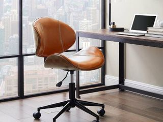 Art leon Swivel Accent Home Office Desk Chair with Casters  Retail 162 99