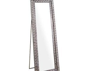 Abbyson Melania Bohemian Silver Floor Mirror  Retail 184 99