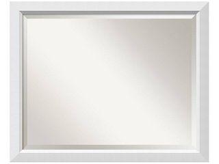 Bathroom Mirror large  Blanco White 32 x 26 inch   26 x 32 x 0 963 inches deep  Retail 149 99