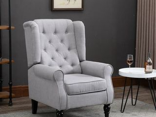 Copper Grove Guanta Tufted Accent Chair with Wooden legs  Retail 213 49