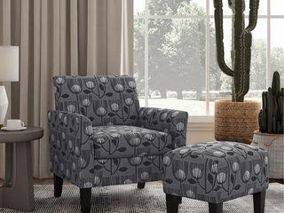 Copper Grove Maritza Half Round Arm Chair and Ottoman  Retail 308 99
