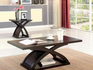 Furniture of America Hali Contemporary Brown Accent Table Set  Retail 339 99