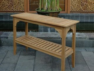 leon Teak Console Table by Havenside Home  Retail 209 99