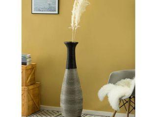 Tall Trumpet Design Decorative Artificial Rattan Wire Pattern Floor Vase 40 Inch High  Retail 109 49