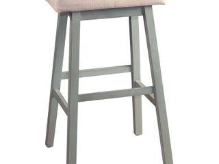 29  Moreno Backless Non Swivel Barstool Blue Gray   Hillsdale Furniture